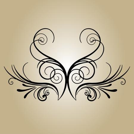 Banner retro flower