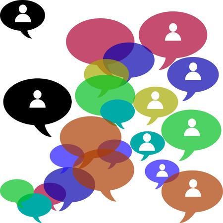 business team: Business team social community Illustration
