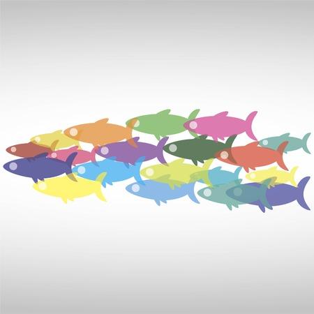 fishes icon Illustration
