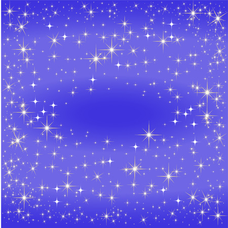 Blue star map, the Milky Way