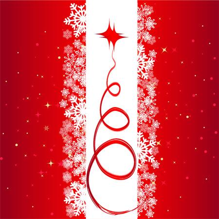 com escamas: Natal de fundo vermelho Ilustra��o