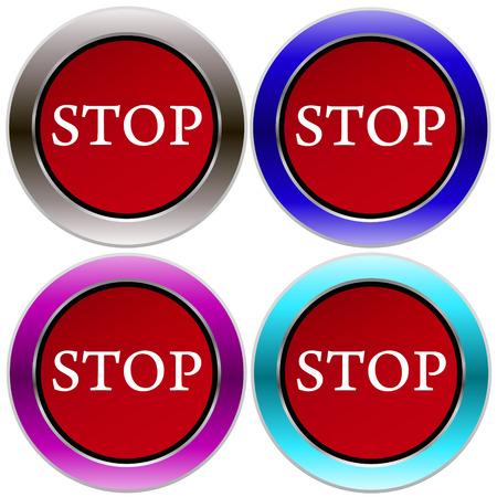 stop button Illustration