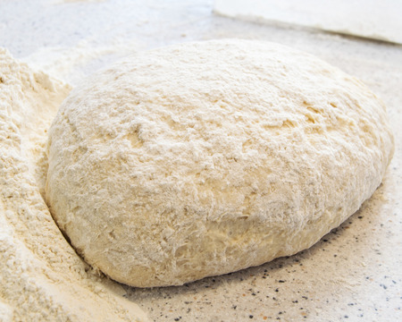 impede: Dough for baking Stock Photo