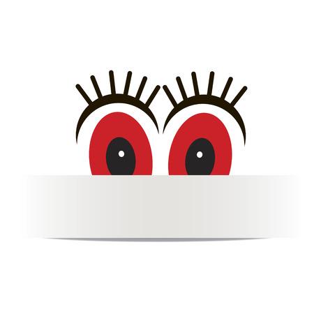 Vector banner eyes