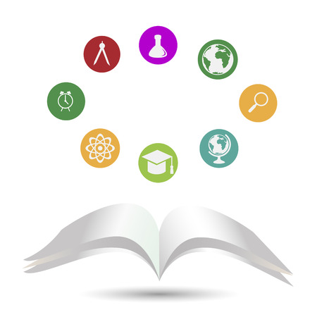 School and education icons Illustration