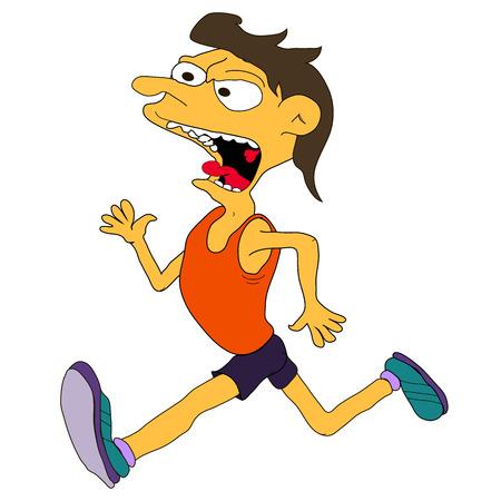 Vector running athlete Vector