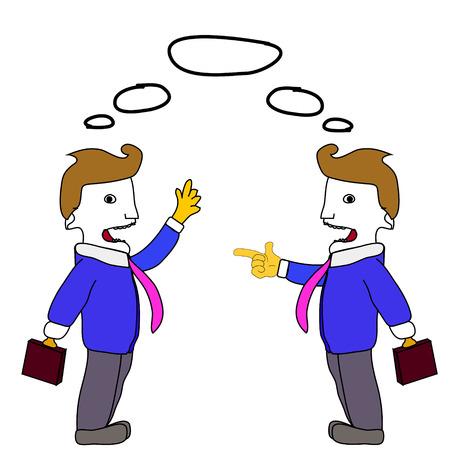 business discussion: Negocios discusi�n Vectores