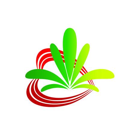 Logo heart flower