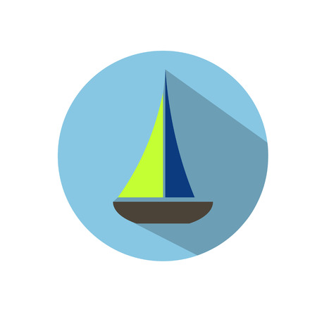 Vector icon yacht