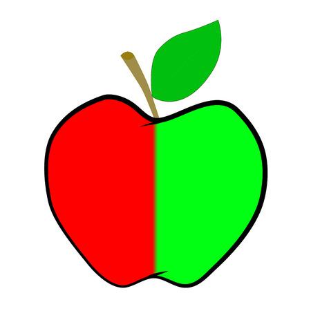 Vector apple