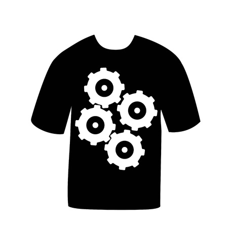 T-shirt with a picture gears
