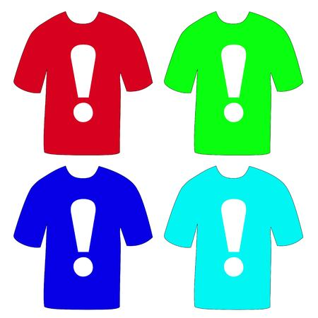 T-shirts with an exclamation mark Illustration