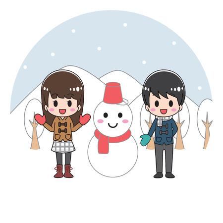 Snowman person winter