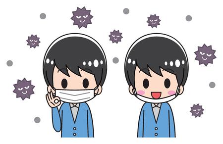 Men wearing a mask Ilustração