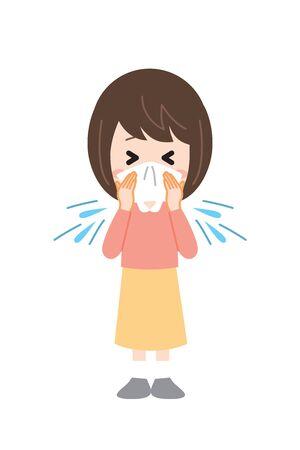 Hay Fever women Sneeze