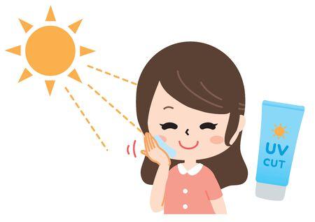 women suffering from sunburn Stock fotó - 134824202