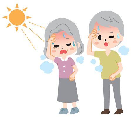 Heatstroke senior illustration
