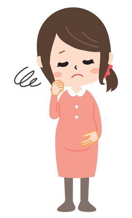 Expectant mother Иллюстрация