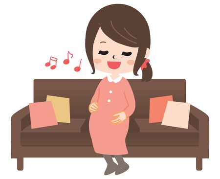The pregnant woman who sings a song