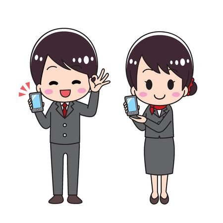 Male and female set to recommend a smartphone