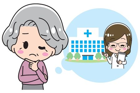 Granny who is troubled about hospital
