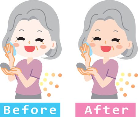 Senior woman to make up Ilustrace
