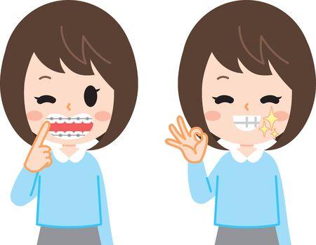 Orthodontic women set