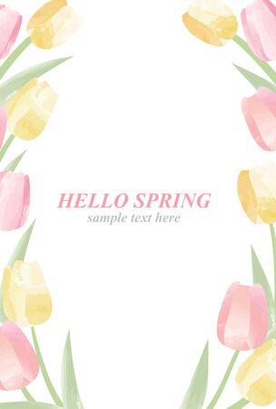 Illustration set of tulips  イラスト・ベクター素材