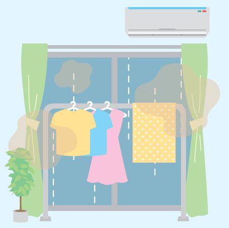 Rainy season indoor drying