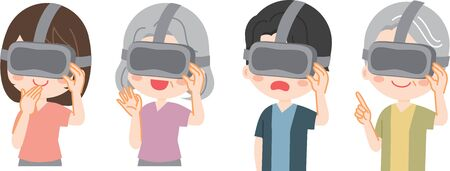 People who experience VR