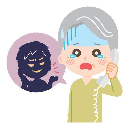 Homme aîné rencontrant la fraude de fil