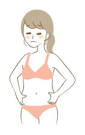 I want to get rid of my stomach fat Ilustração