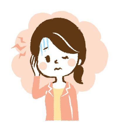 Ive Got a Blinding Headache  イラスト・ベクター素材