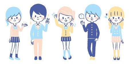 Student illustration set Vector Illustratie