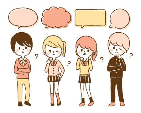 Illustration of students thinking