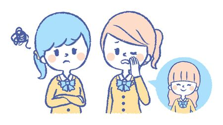 Illustration of a student saying bad words