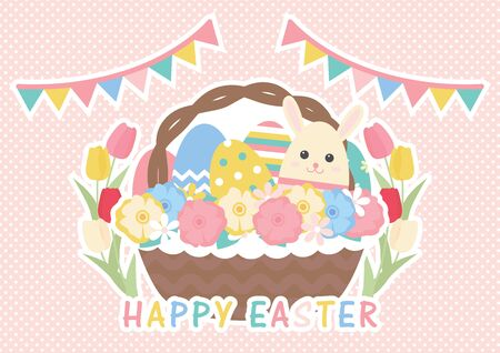 Cute illustration set of Easter eggs