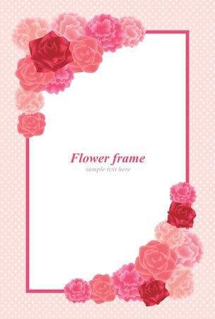 Carnation and Rose Background Illustration