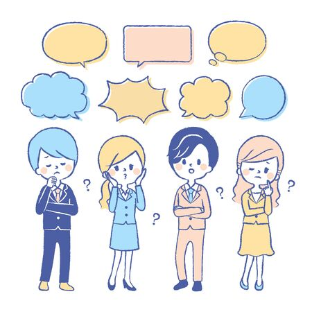 The company employee is worried Illustration