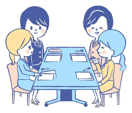 The company employees have a meeting