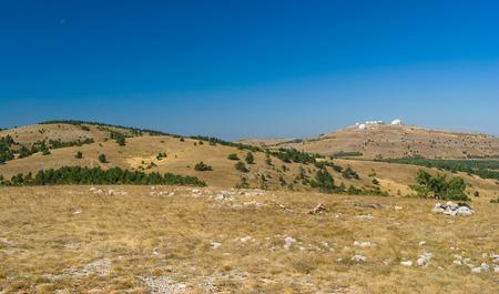 tableland: Fall landscape on Ai-Petri mountain tableland in Crimean peninsula