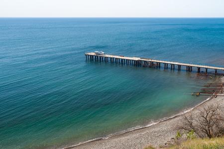 Beautiful Black Sea at spring season in Crimean peninsula