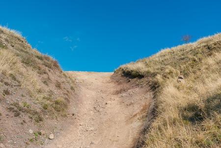 earth road: Hard earth road on Demerdzhi Yaila in Crimean mountains