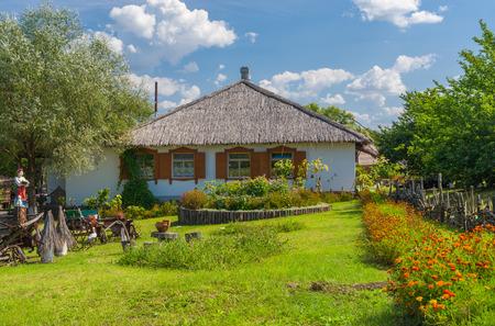 farmstead: An ancient Ukrainian farm-stead near Dikanka village