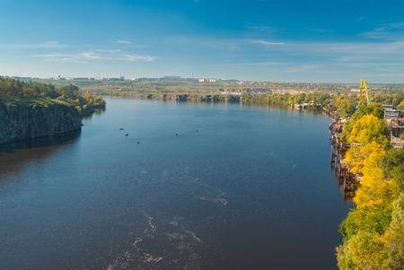 dnepr: Riverside of the Dnepr River in Zaporizhia city, Ukraine