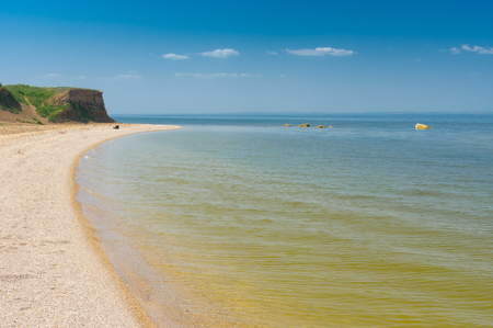 dnepr: Summer landscapeat Kakhovka Reservoir located on the Dnepr River, Ukraine
