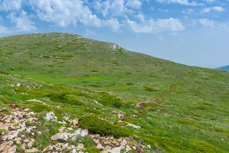 mountainous: Beautiful Place for hiking - Chatyr-Dah mountainous massif in Crimea, Ukraine