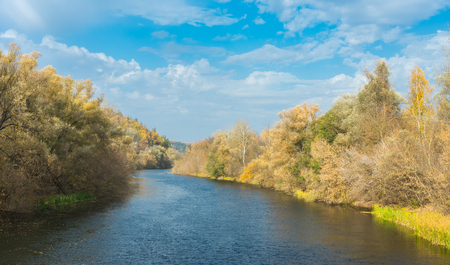 placidity: Peaceful autumnal landscape on a Psel river in Sumskaya oblast, Ukraine