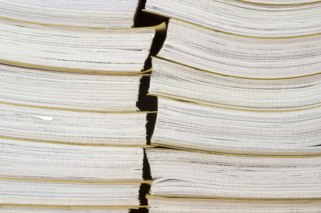 archival: Archival background - a pile of archival documents Stock Photo