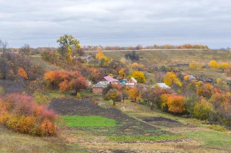 gully: Small hamlet in Sumskaya oblast, Ukraine Stock Photo